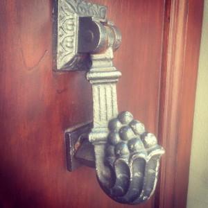 Love this old rustic door knocker I found in Vellanohellip